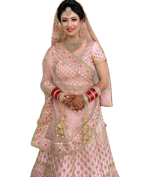 Light Pink Color Wedding lehenga