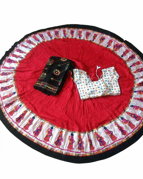Navratri Special Red Color Traditional Chaniya Choli