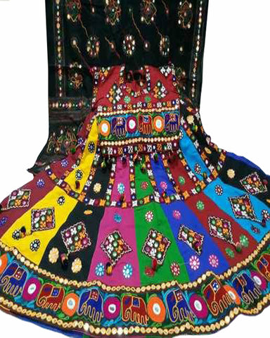 Navratri Special Black & Multi Color Traditional Chaniya Choli