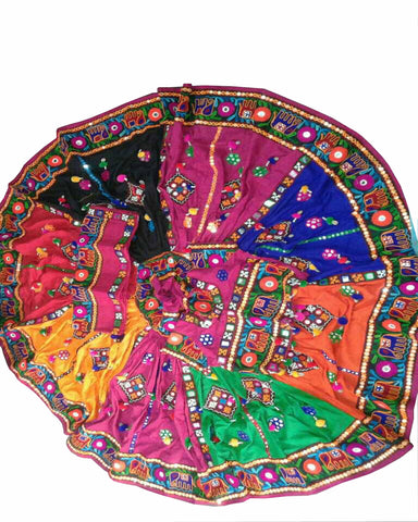 Navratri Special Red & Multi Color Traditional Chaniya Choli