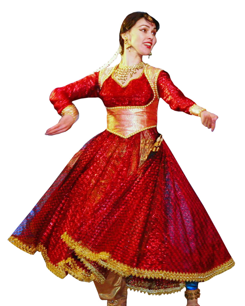 a410beefadf1 Kathak Red Dance Dress – Sulbha Fashions
