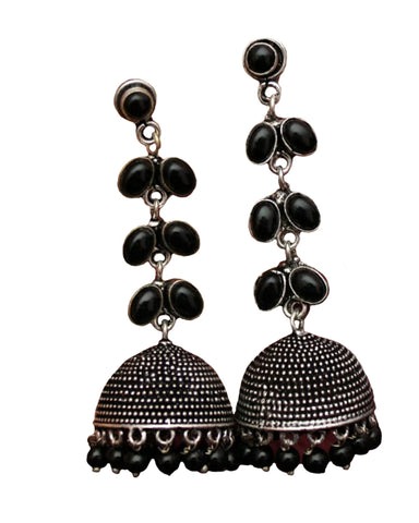Bollywood Style Black Earrings