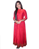 Carry Red Designer Gown