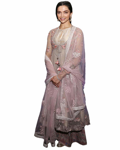 Bollywood Pink Color Deepika Padukone Anarkali Gown