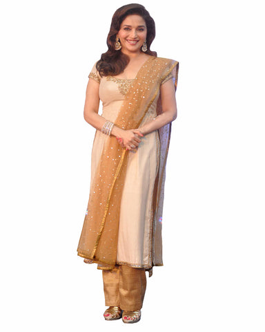 Bollywood Cream Color  Madhuri Dixit kurta