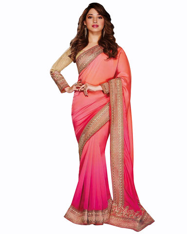 Tamanna Pink Color Gorgeous saree