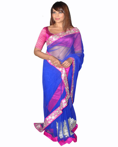 Bipasha Basu Royal blue Color Saree