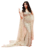 Bollywood Dress Light Peach Color Aiswarya Designer Fish Cut Gown