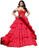 Bollywood Dress Red Color Aiswarya Designer Gown