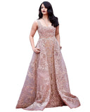 Bollywood Skin Color Aiswarya Anarkali Gown