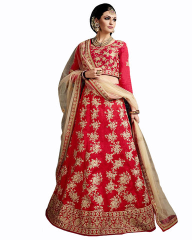 Peach Color Wedding lehenga With Matching Jewelry