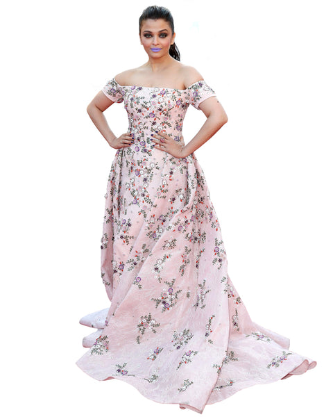Bollywood Pink Color Aiswarya Anarkali Gown