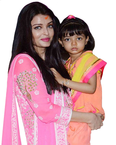 Pink Color Bollywood Mother Daughter Suit