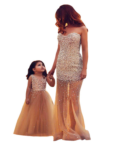 Skin Color  Mother Daughter Gown