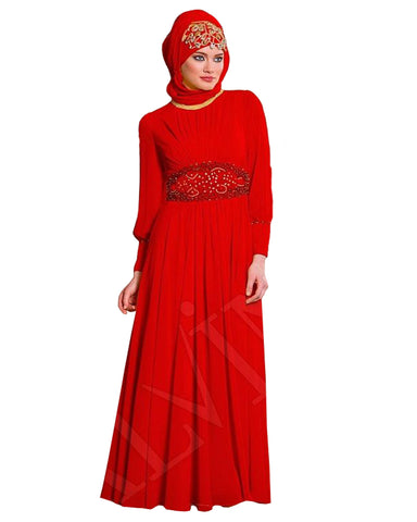 Red Color islamic kaftan