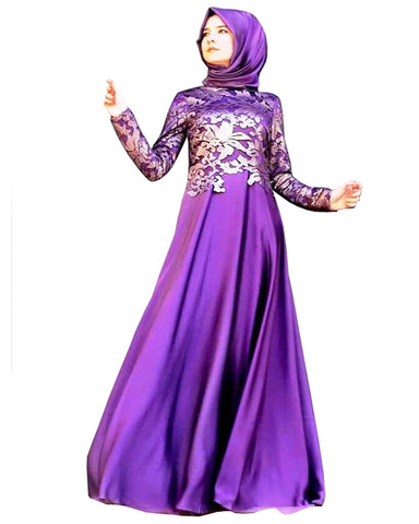 purpal islamic kaftan