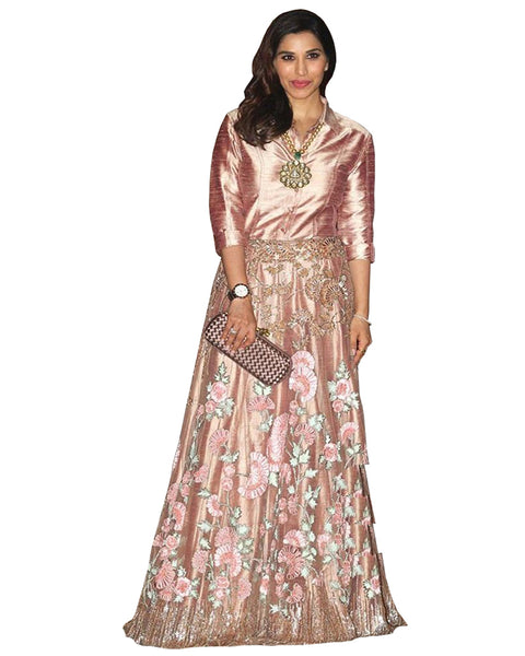 Bollywood light pink Color Sophie Anarkali Gown