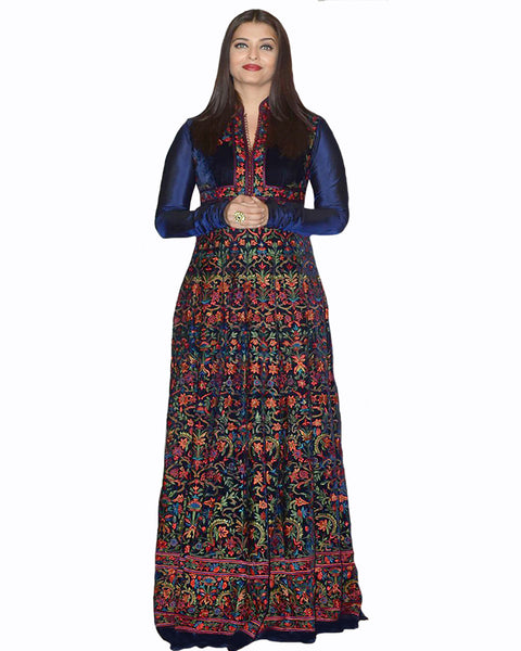 Bollywood Navy Color Aiswarya Heavy Anarkali Gown