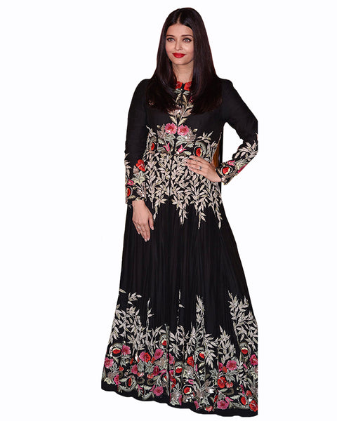 Bollywood Black Color Aiswarya Anarkali Gown
