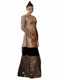 Black And Gold Color Designer Lehenga Choli