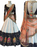 Black And White Color Designer Lehenga Choli