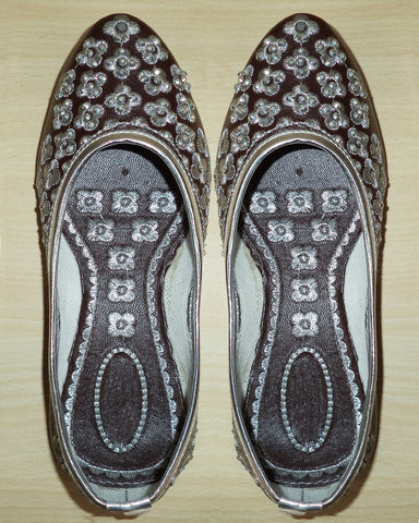 Dark Brown Pure Leather Jutti
