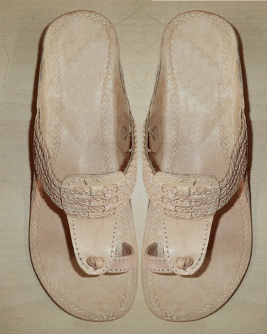 Sober Skin Color Leather Chappal