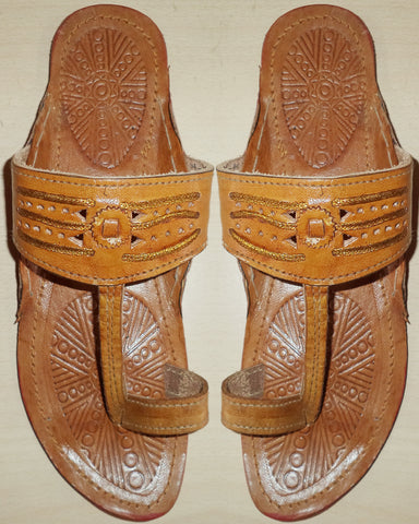 Brown Kolhapuri Chappal