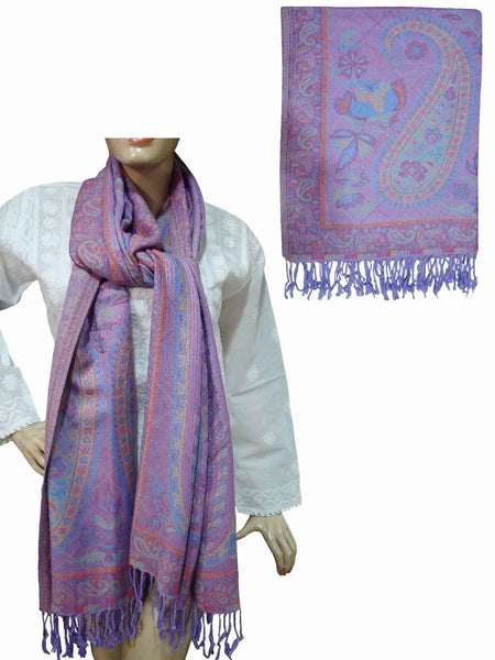 Purpal Hand Embroidered Viscose Stole