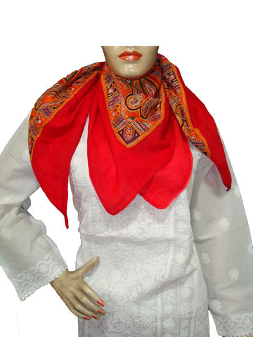 Red Designer Viscose Scarves