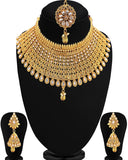 Exclusive Gold Plated Jalebi choker Necklace Set For Women