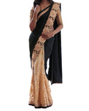Designer Black-Stone Color Saree