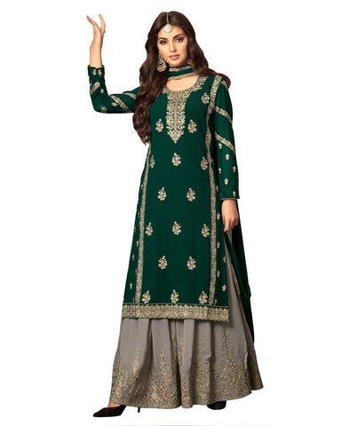 Green Embroidered Palazzo Dress Women Suit Design