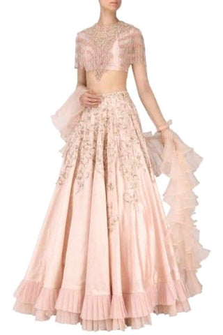Light Pink Emellished Lehenga