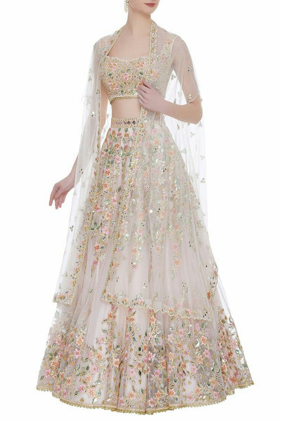 White Color Designer Lehenga
