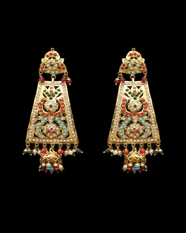 Multi Jadau Earrings
