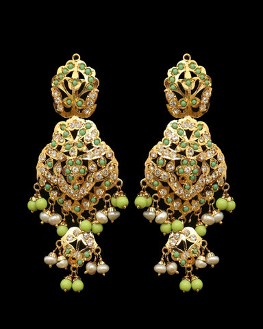 Green Jadau Earrings