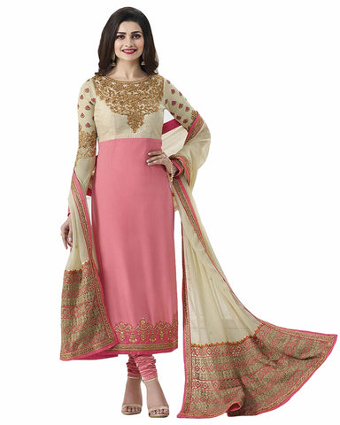 Pink Designer Suit with Heavy Embroidered Dupatta