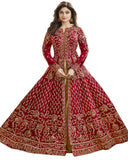 Shamita Shetty Red Kurti Style Lehenga Choli