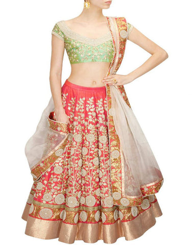 Red Color Gotta Patti Bridal Lehenga Choli