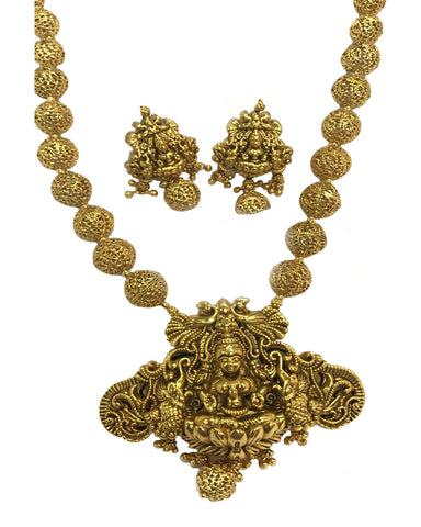 Temple -1 Jewellery Matte Finished Necklace Set for Women