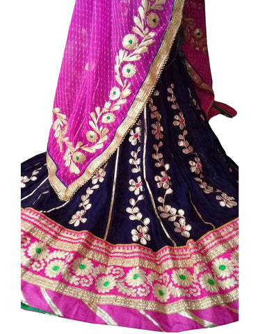 Navy Color Ghoomar  Dance Costume