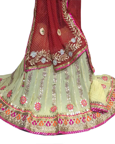Cream Color Ghoomar Dance Costume