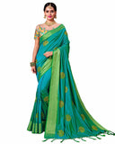 Blue Color South Silk Saree