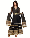 Designer Black Long Length Anarkali Suit