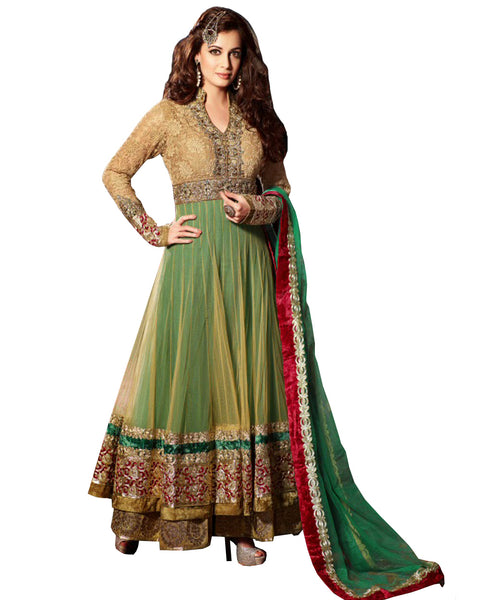 Bollywood Green Color Long Length Anarkali Suit