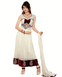 Designer Off white Long Length Anarkali Suit