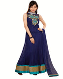 Designer Dress Blue Long Length Anarkali Suit