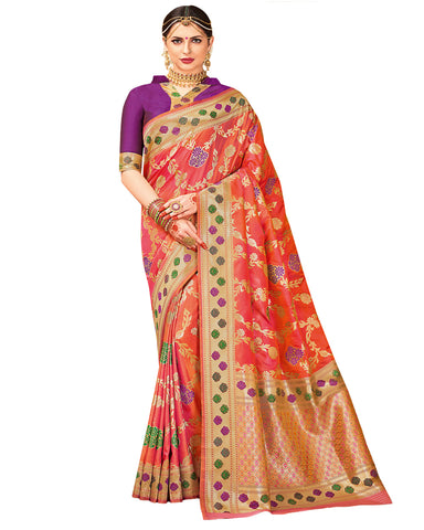 Pista Purple Color Dharmavaram Saree