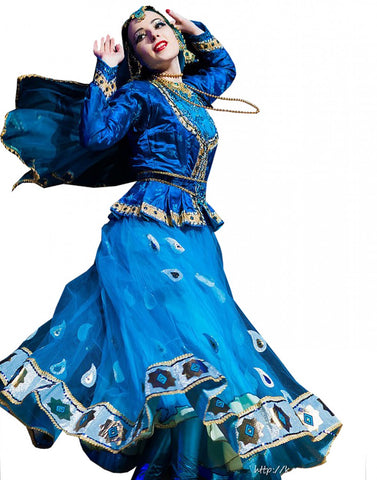 Blue Persian Soft Dance Costume